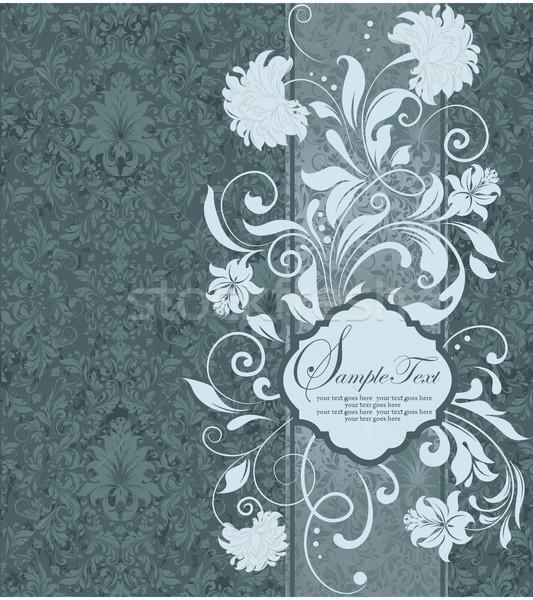 vintage invitation card with ornate elegant abstract
