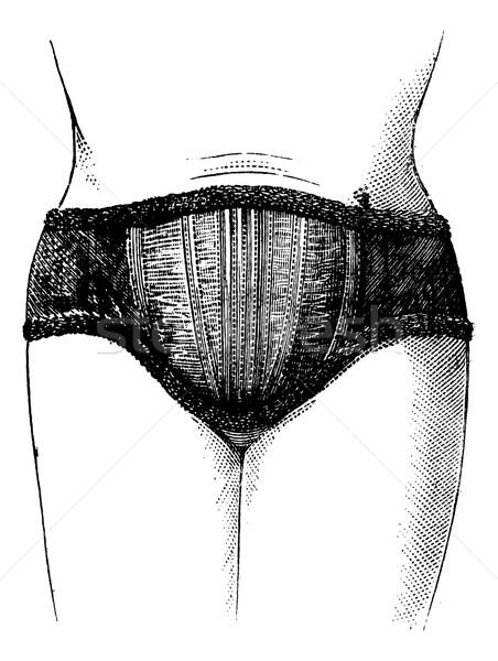 Abdominal flexível tecido inglês ver Foto stock © Morphart