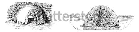 Kuvars bağbozumu oyma eski oyulmuş örnek Stok fotoğraf © Morphart