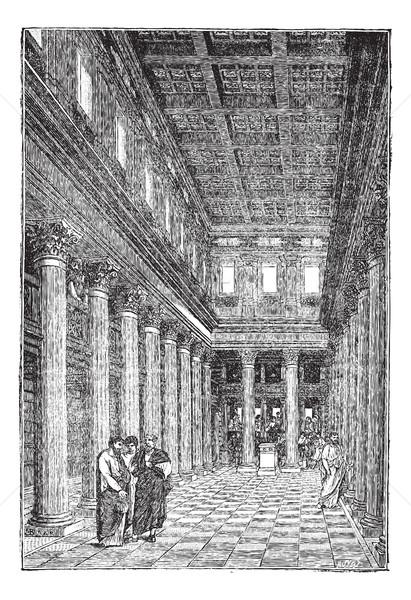 Interieur basiliek vintage oude gegraveerd Stockfoto © Morphart