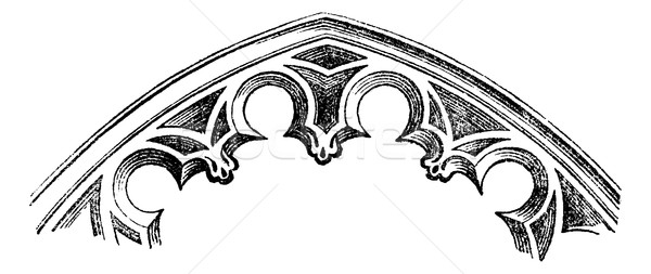 FR Intrados - arches cut-to-date (XV century), vintage engraving Stock photo © Morphart