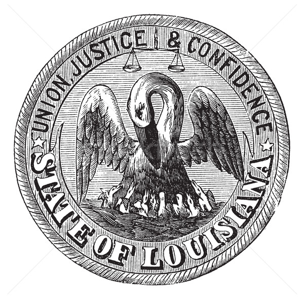 Great Seal of the State of Louisiana USA vintage engraving Stock photo © Morphart