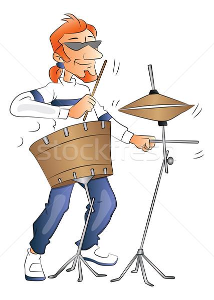 Vector of drummer. Stock photo © Morphart