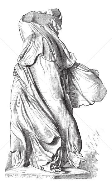 Museum of Louvre; Sculpture. - The Victory of Samothrace. - Draw Stock photo © Morphart