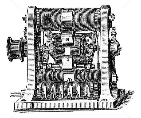 Machine programma vintage gegraveerd illustratie Stockfoto © Morphart