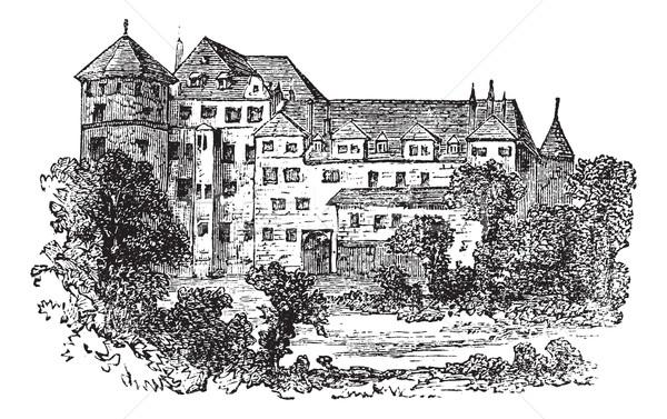Stuttgart, the former palace, vintage engraving. Stock photo © Morphart