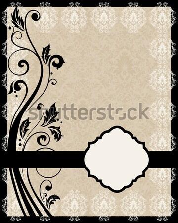 招待 ヴィンテージ カード フローラル 飾り ファッション ストックフォト © Morphart