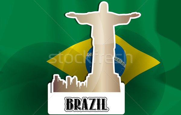 Brazil, illustration Stock photo © Morphart