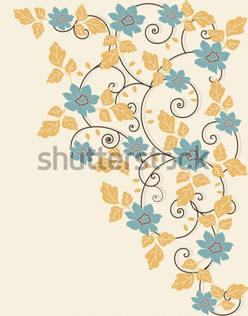 Spring floral background with place for text Stock photo © Morphart