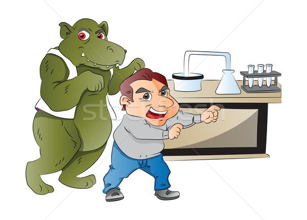 Hayvan adam laboratuvar örnek doktor yeşil Stok fotoğraf © Morphart