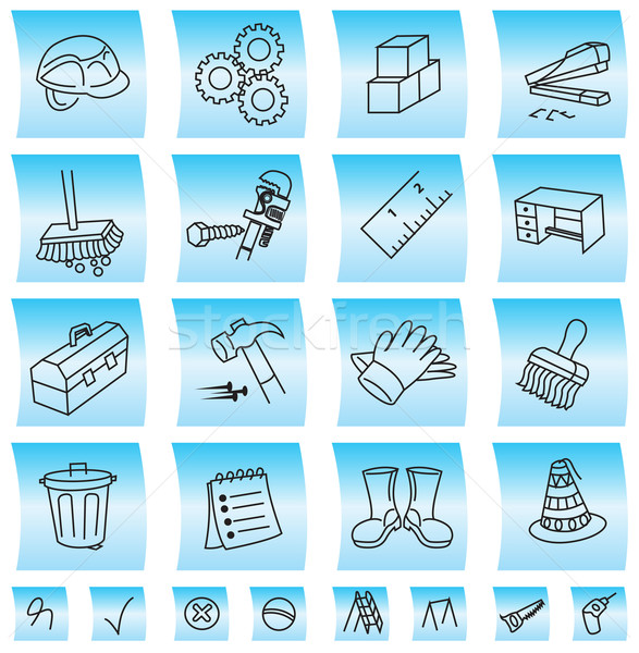 Construction buttons and icons, illustration Stock photo © Morphart