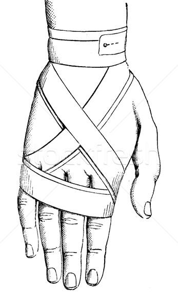 Bandázs nyolc kéz klasszikus vésés gravírozott Stock fotó © Morphart