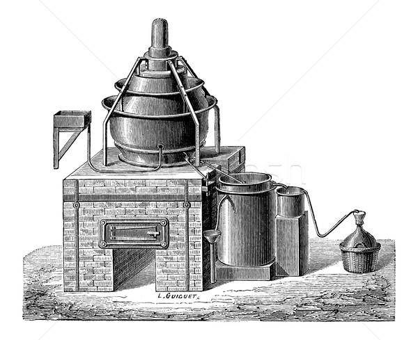Concentration of Sulfuric Acid, vintage engraving Stock photo © Morphart
