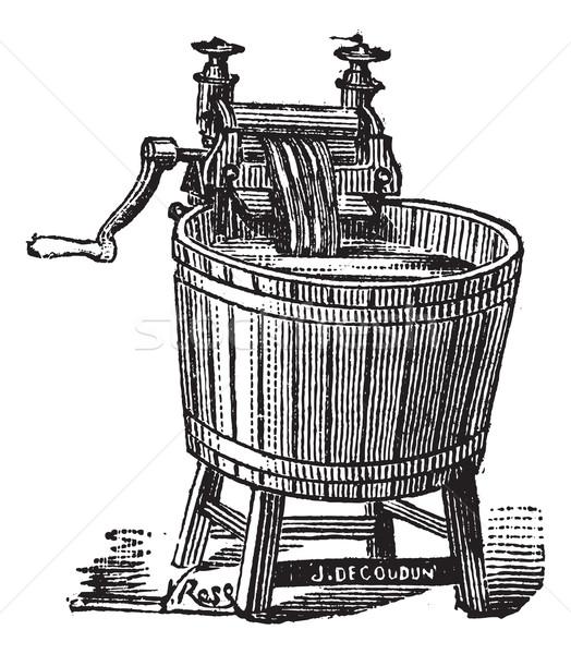 Dönüş yıkayıcı basınç bağbozumu oyma eski Stok fotoğraf © Morphart
