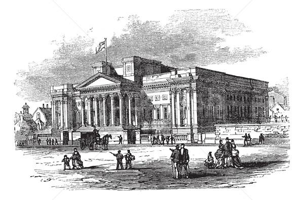 Kahverengi kütüphane müze dünya Liverpool İngiltere Stok fotoğraf © Morphart