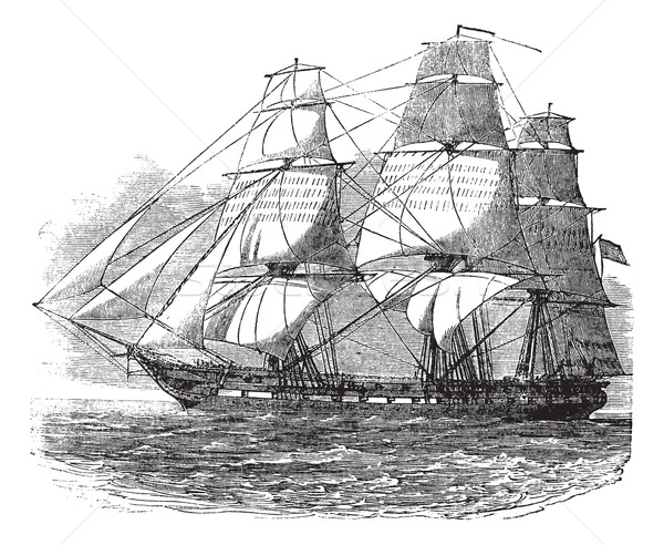 USS Constitution, vintage engraved illustration Stock photo © Morphart