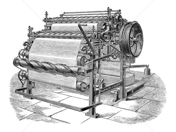 Stockfoto: Papier · machine · twee · vintage · gegraveerd