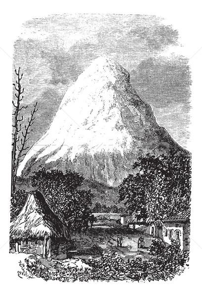вулкан Эквадор Vintage старые Сток-фото © Morphart
