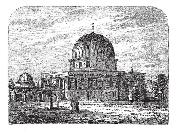 купол рок Иерусалим Израиль Vintage Сток-фото © Morphart