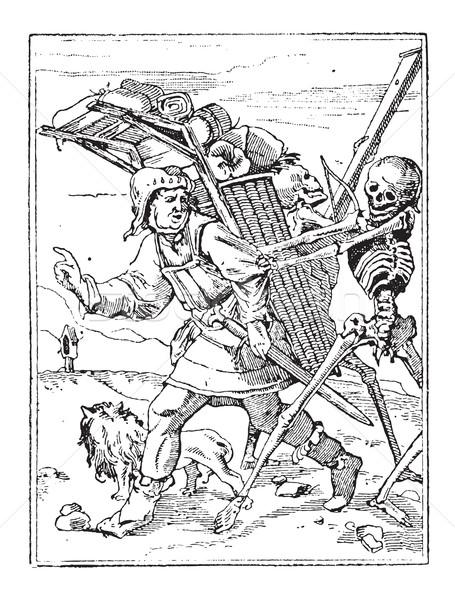 Dance of Death, vintage engraving Stock photo © Morphart