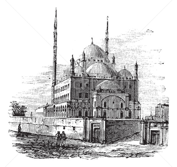 Mosque of Muhammad Ali or Alabaster Mosque, in the Citadel of Ca Stock photo © Morphart