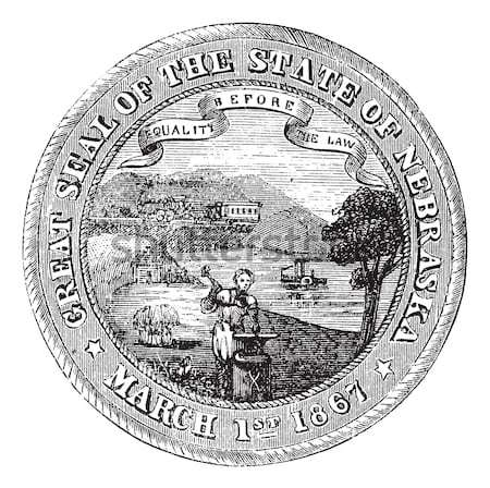 Seal of the State of Pennsylvania USA vintage engraving Stock photo © Morphart