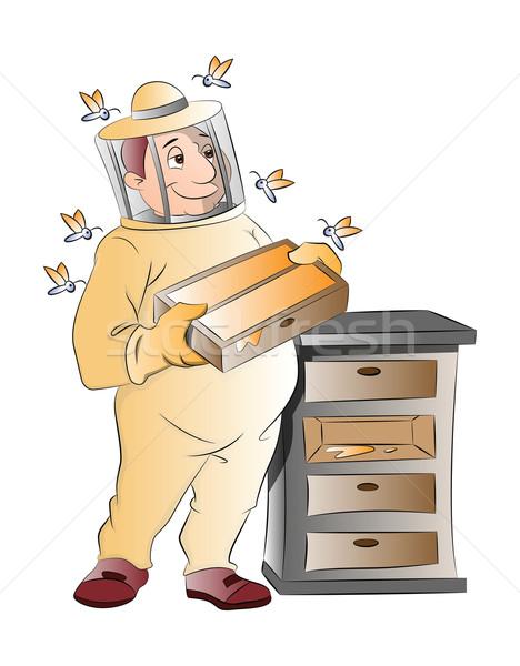 Beekeeper, illustration Stock photo © Morphart