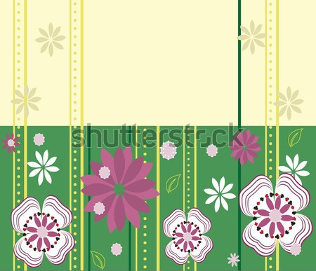 Vintage invitation card with elegant retro abstract floral desig Stock photo © Morphart