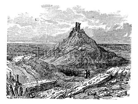 Vulkán Olaszország klasszikus vésés gravírozott illusztráció Stock fotó © Morphart