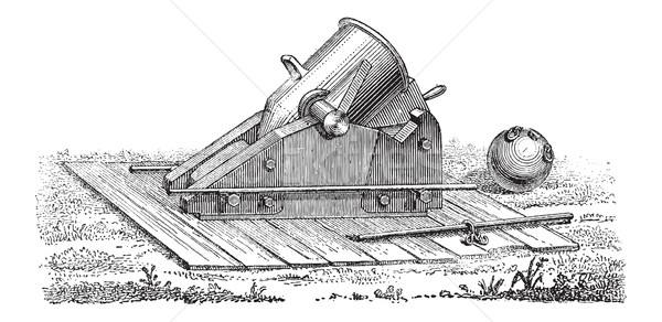 Old Mortar, vintage engraving Stock photo © Morphart