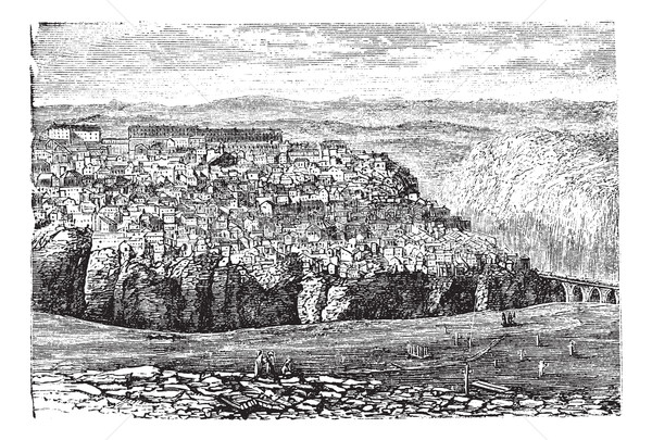 Constantine, in Algeria, vintage engraving Stock photo © Morphart
