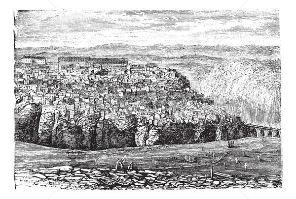 Cezayir bağbozumu oyma eski oyulmuş örnek Stok fotoğraf © Morphart