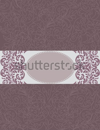 Romantic vintage card design  Stock photo © Morphart