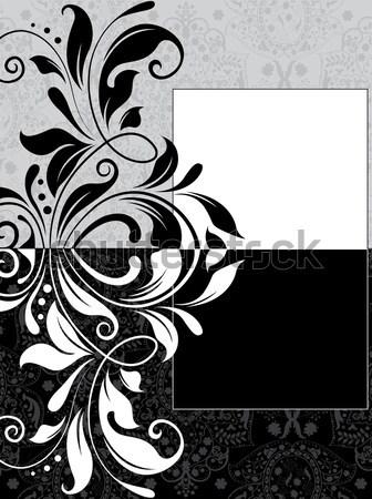 Stock fotó: Klasszikus · meghívó · díszes · elegáns · absztrakt · virágmintás