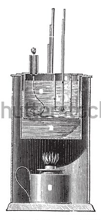Supervisar vintage grabado ilustración enciclopedia mar Foto stock © Morphart
