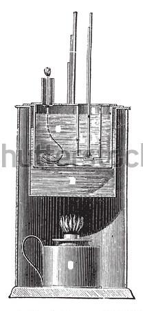 USS Monitor, vintage engraved illustration Stock photo © Morphart