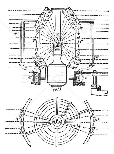 Objektif bağbozumu oyma oyulmuş örnek ansiklopedi Stok fotoğraf © Morphart