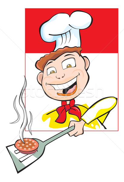 Cooking a Burger Patty, illustration Stock photo © Morphart