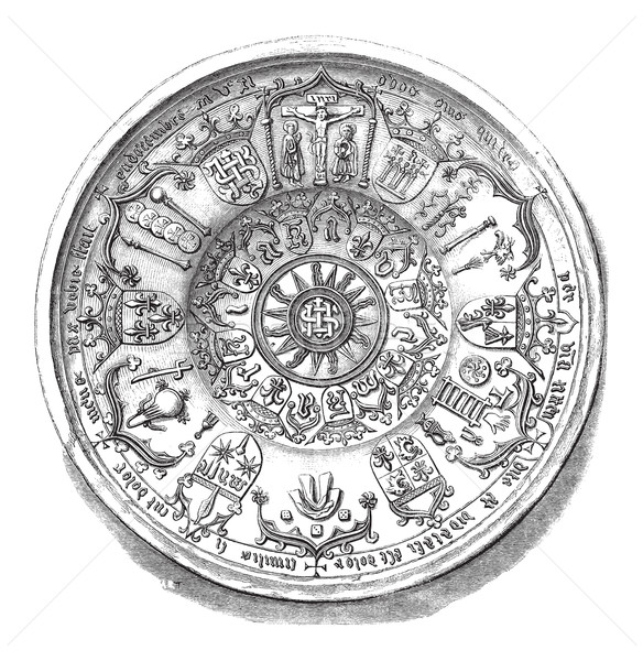 Earthenware Dish, vintage engraving Stock photo © Morphart