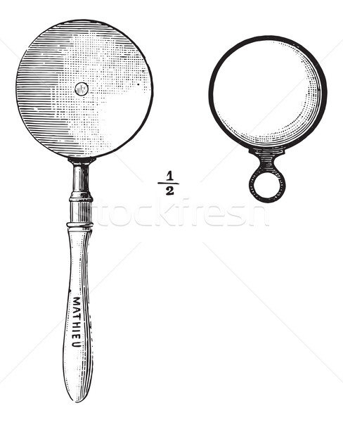 Ophthalmoscope, vintage engraving. Stock photo © Morphart