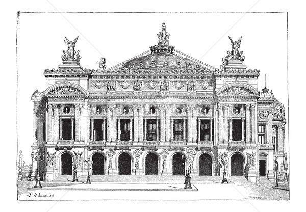 Париж опера Франция Vintage Сток-фото © Morphart