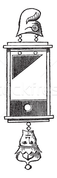 Earring of guillotine (1793) vintage engraving Stock photo © Morphart