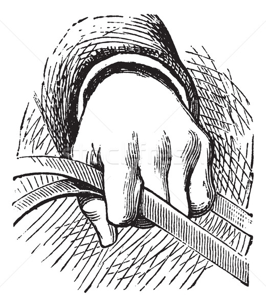 How to hold the reins of horse in simple riding vintage engravin Stock photo © Morphart