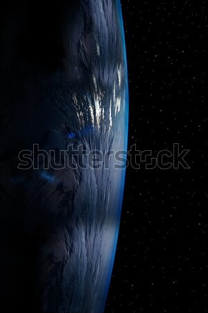 Terra 12 semplice stelle cielo notturno proprio Foto d'archivio © morrbyte