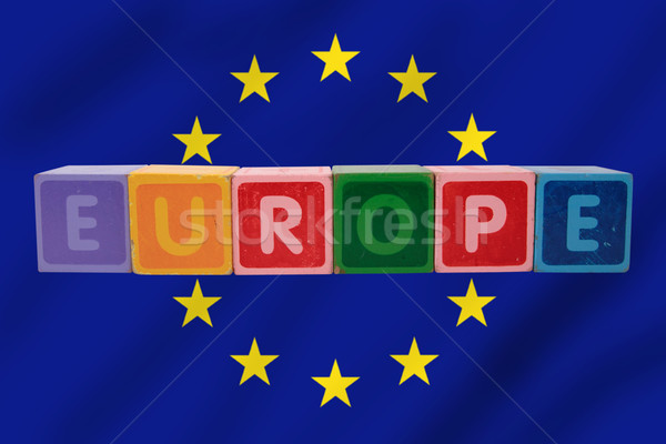 europe and flag in toy letters Stock photo © morrbyte