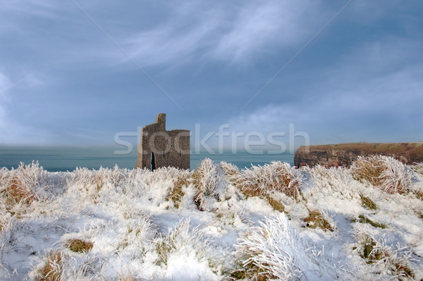 christmasy view of ballybunion beach and cliffs Stock photo © morrbyte