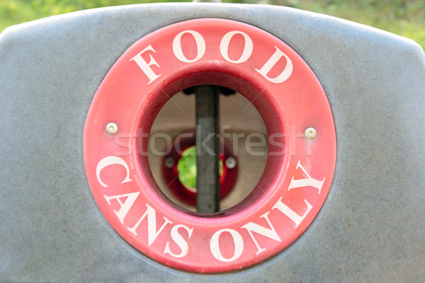 bin food cans only Stock photo © morrbyte