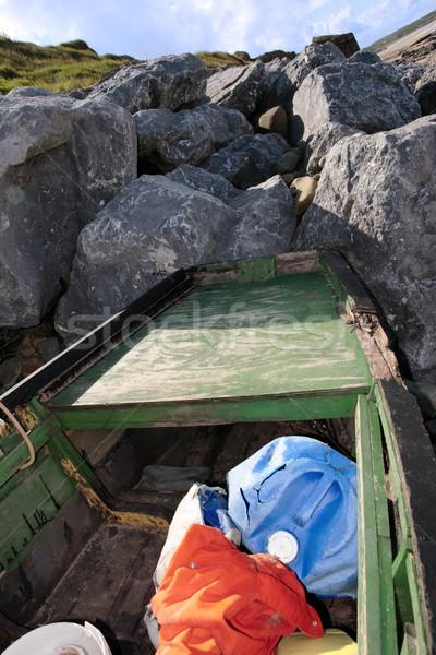 derelict ship Stock photo © morrbyte