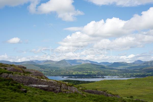 Güzel dağ görmek yol yürümek İrlanda Stok fotoğraf © morrbyte