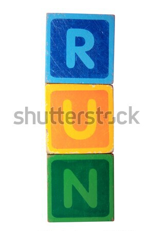 up in toy play block letters with clipping path Stock photo © morrbyte